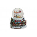 wholesale Gifts & Stationery: Musical clock / poly / glass ball, B19 x T17 cm