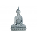 wholesale Stockings & Socks: Buddha sitting on base in gray from poly, 39 cm