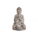 portalume Buddha in ceramica, B18 x T15 x H30