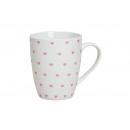 Coppa decorazione cuore rosa di porcellana, 10 cm,