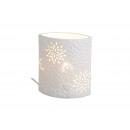 Lampada da tavolo ovale di porcellana bianca, B18