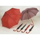 Großhandel Regenschirme: Stock-Schirm mit Holzgriff sortiert, B100 cm