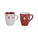 decorazione tazza poppa della ceramica, 2- volte a