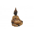 Buddha seduto con la tazza, in oro di poli, B24 x