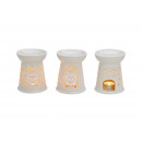 Duftlampe weiß aus Porzellan, B13 x H10 cm
