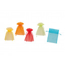 wholesale Gifts & Stationery: Gift assorted, made of organza, 5-fold assorted, B