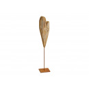 Cuore di legno al metallo Stander di legno del Bro
