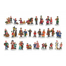 Miniatűr Christmas Alakok poli szortírozott kiszál