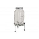 Barrel csapot, és fém Stander Glass Trans