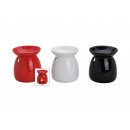 wholesale Fragrance Lamps: Ceramic scent lamp, 3-way assorted, 10 cm