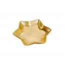 Decorativo piatti di argilla, vetrata oro, a forma