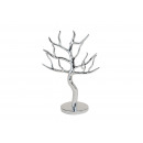 wholesale Haberdashery & Sewing: Jewelery tree in silver in poly, 30 cm