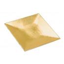 vassoio d'oro in plastica, B17 x H17 cm