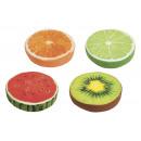 groothandel Home & Living: Kussens rond vruchten van textiel, 4- ...