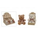 wholesale Dolls &Plush: Bear, plush in brown, 2-fold assorted, 16 cm