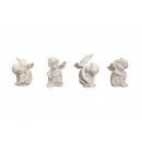 Angel sitting in poly, assorted, 8 cm
