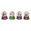 Schneekugel Weihnachtsmotiv vetro / poly 4-