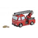 Spardose camion dei pompieri di poli, B16 x H10 x