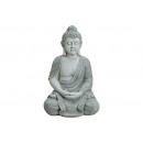 Buddha GREY POLY SEDUTA 62CM