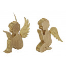 wholesale Home & Living: Angel in gold wood / metal, 2 times assorted , 14
