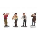 Busker miniatura di poli, 4- assortito