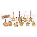 Großhandel Home & Living:-Deko-Weihnachts Lebkuchen-Hänger, sortiert, aus To