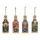 Bottiglia in legno / metallo, 4- assortito, B