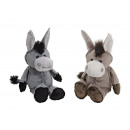 grossiste Poupees et peluches: DONKEY GRAY / BROWN PELUCHE 2-UP assorti 22cm
