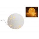 Asztali lámpa fehér porcelán labdát, B21 cm