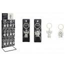 Großhandel Geschenkartikel & Papeterie: Schlüsselring Engel aus Metall, 2-fach sortiert, 4