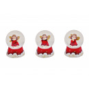 Snow angel angel in red from poly, assorted , 6 cm