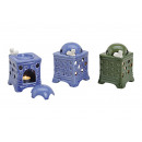 wholesale Fragrance Lamps: Ceramic tiled stove, 2- times assorted ,