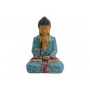 Buddha di poli, blu / marrone / rosso (B / H / T)