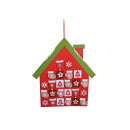 Advent calendar, house made of felt and textile, B