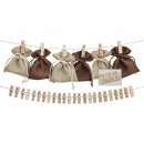 wholesale Home & Living: Advent calendar, wooden clip set, 24-piece,