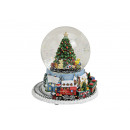 wholesale Gifts & Stationery: Music box / Snow globe ball made of poly / glass,