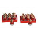 Candela set 6 pezzi Angelo Rosso, 2- assortito,
