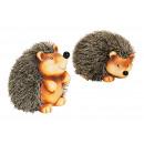 Hedgehog od glinianymi / sztucznego futra, mieszan