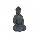 Buddha seduto in marrone da poli, 25 cm