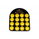 wholesale Magnets: Magnetic motif Smiley plastic, (16 pieces on