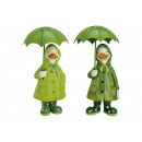 Duck with metal Umbrella Poly Green 2-fold s