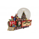 wholesale Snow Globes: Music box / Snow globe locomotive, B22 x T12 x H18