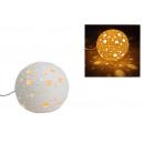 wholesale Lampes: Table lamp sphere white porcelain, B16 cm