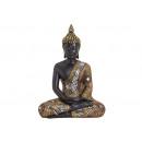 Buddha nero / oro POLY 21X12X27CM