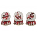 wholesale Snow Globes: Snow globe Snowmen made of poly, assorted , 9 cm