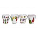 decorazione di Natale tazza di porcellana, a 4 Sor