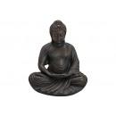 Buddha ülő szürke szürke 60x52x43cm