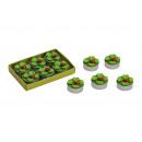 Candela set 6 pezzi quadrifoglio, B3 x T2 cm