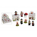 Lucky charm in bag of poly, assorted, 4-5 cm