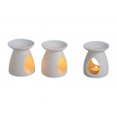 wholesale Fragrance Lamps: White assorted, lamp made of porcelain, 2 ...
